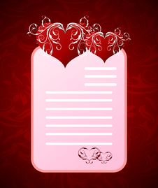 Romantic Letter For Valentine S Day Royalty Free Stock Photography