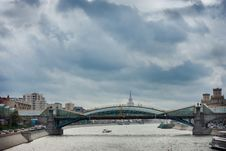 Glass Bridge In Moscow Royalty Free Stock Photos