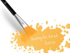 Free Brush And Print Royalty Free Stock Photo - 18153555
