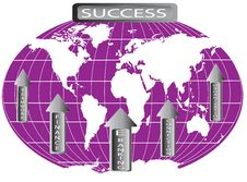 Free World Map Represented Success In Finance Stock Image - 18153911