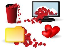 Free Icons With Small Hearts Stock Images - 18153964