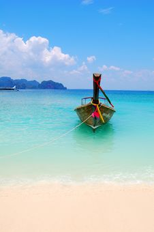 Free One Boat On The Sea Stock Image - 18154911