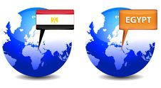 Free Globe With Egypt Sign Stock Photography - 18156072