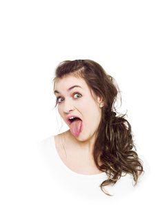 Free Making A Funny Face Royalty Free Stock Images - 18156099