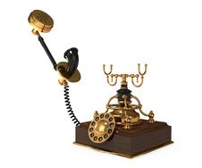 Free 3d Retro Telephone Royalty Free Stock Images - 18156249