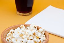 Free Pop Corn And Cola Stock Photos - 18156253