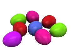 Free 3d Colored Easter Eggs Stock Photography - 18156262