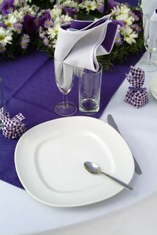 Purple Feast Stock Photography