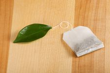 Free Organic Green Teabag Royalty Free Stock Images - 18157659