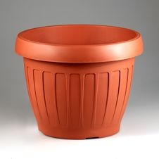 Plastic Pot Royalty Free Stock Photography