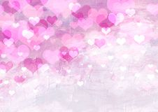 Free Abstract Background With Hearts Stock Image - 18158371