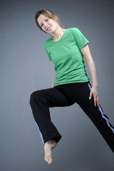 Adult Exercising Aerobics Royalty Free Stock Image