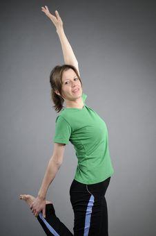 Girl Exercising Aerobics Stock Photos