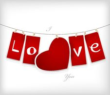 Free Valentine Hanging Labels. Royalty Free Stock Photography - 18158647
