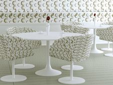 Retro Interior Design Of Cafe Stock Images