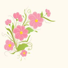 Free Cute Floral Card Royalty Free Stock Photos - 18159518