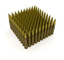 Free Cartridges For Machine Gun Royalty Free Stock Photography - 18159867