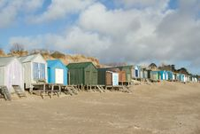 Free Beach Huts. Royalty Free Stock Image - 18159946