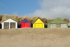 Free Beach Huts. Stock Photo - 18159980
