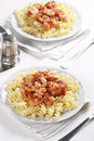 Free Pasta With Tomato And Shrimps Royalty Free Stock Images - 18161209