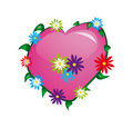 Free Pink Heart With Flowers Stock Photo - 18161480