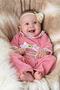Free Baby On A Beautiful Beige Background Stock Image - 18165541