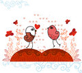 Free Valentine Birds In Love. Royalty Free Stock Images - 18167469