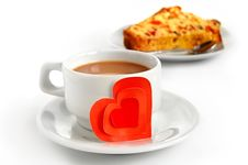 Free Cup Of Coffee And Paper Heart Stock Photo - 18160030