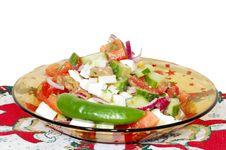 Free Delicious Cucumber Tomato Salad Stock Photo - 18160120