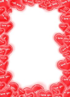 Free Hearts Frame Royalty Free Stock Photo - 18160265
