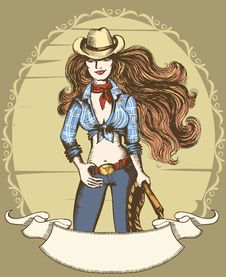 Free Cowgirl Royalty Free Stock Photography - 18160377