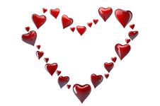 Free Big Heart Made Of Small Red Hearts Royalty Free Stock Images - 18160629