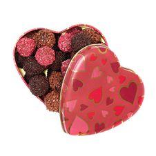Chocolate Truffles In Heart Shaped Box Royalty Free Stock Photo