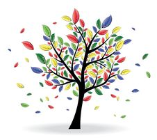 Free Abstract Colorful Tree Stock Photos - 18161003