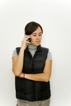 Free Young Woman Talking On The Phone Royalty Free Stock Photos - 18161008