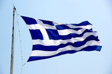Free Greece Flag Royalty Free Stock Images - 18161169
