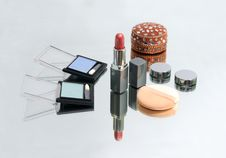 Free Collection Of Make-up Products And Jewel-box Royalty Free Stock Images - 18161379