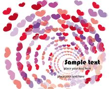 Free Background With Hearts For Valentine S Day Royalty Free Stock Images - 18161519