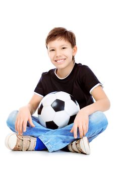 Free Boy With Ball Royalty Free Stock Image - 18161636