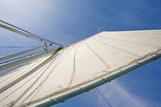 Free Sail Of An Old Felluca Stock Photography - 18161852