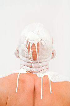 Free Bald Man In White Paint Stock Photos - 18162383