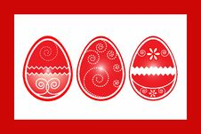 Free Easter Three Eggs In Frame Vector Illustartion Royalty Free Stock Images - 18162619