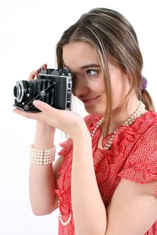 Free Taking A Picture With Vintage Camera Stock Photos - 18163173