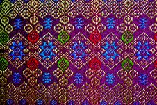Free PATTERN OF THAI TEXTILE Royalty Free Stock Photos - 18163308