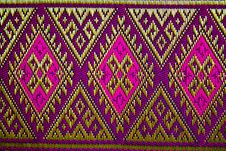 THAI TEXTILE DESIGN Stock Photo