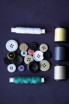 Free Sewing Kit Royalty Free Stock Images - 18163899