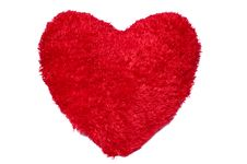 Free Red Heart On White Stock Photography - 18164352