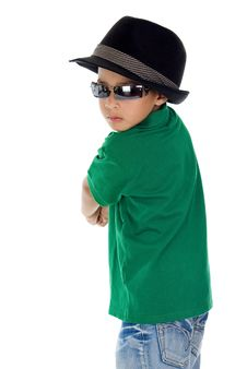 Free Cool Boy With Sunglasses And Hat Royalty Free Stock Photos - 18164518