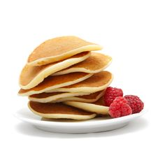 Free Small Pancakes With Berries Stock Photo - 18164550