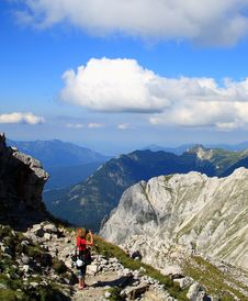 Free Woman And Camera In Alps Stock Images - 18164754